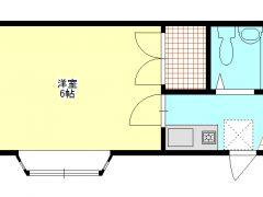 高島新屋敷 ブロリー 1K 102号室