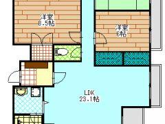 ソラーナ津高 601号室 3LDK